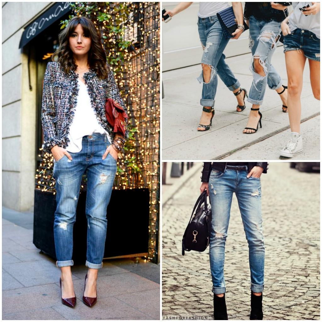 Sagittario jeans strappati