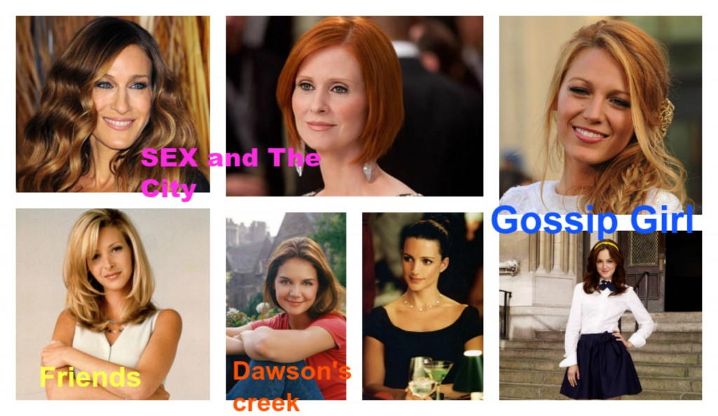 sex and the city, dawson's creek, gossip girl, friends
