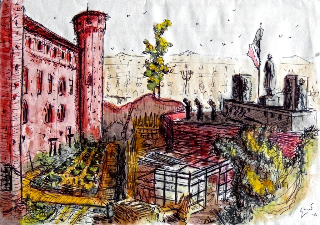 Palazzo Madama Piazza Castello Disegno Torino Matteo Enrico