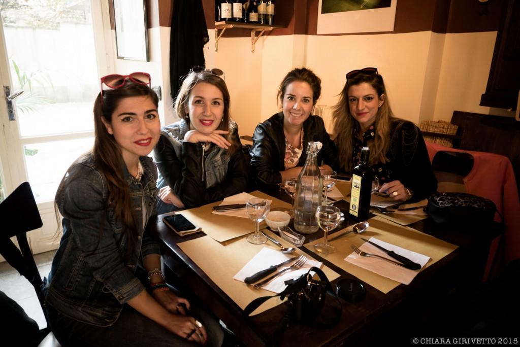 Le Torino Fashion Bloggers in attesa di divorare le tigelle Da Emilia