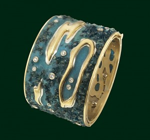 Enrico Cirio bracciale mare isole atolli oro