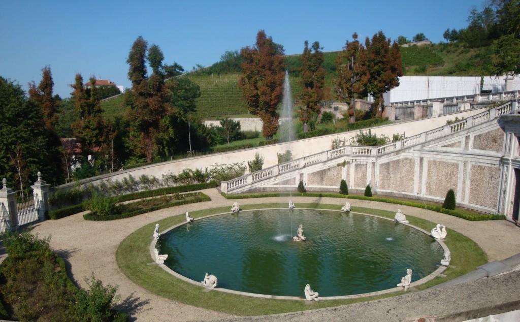 fontana, villa della Regina, torino, estate