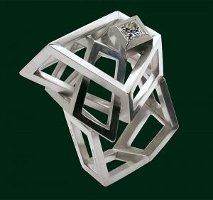 Enrico Cirio anello vuoto nel vuoto gioiello metallo