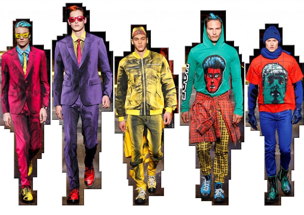 Moschino moda uomo f/w 2016-17