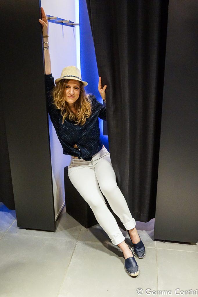 Eleonora Gavino Kiabi total look paglietta