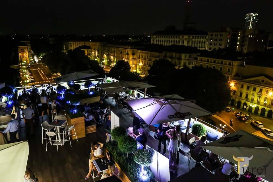 Turet terrazza Martini aperitivo festa di laurea disco musica