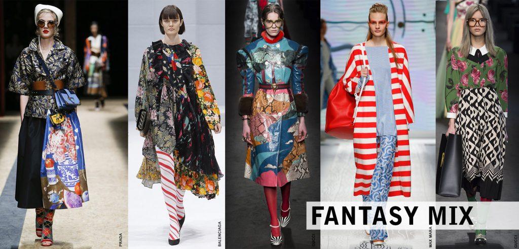 fantasy mix, stampe fantasia, tendenze autunno inverno 2016