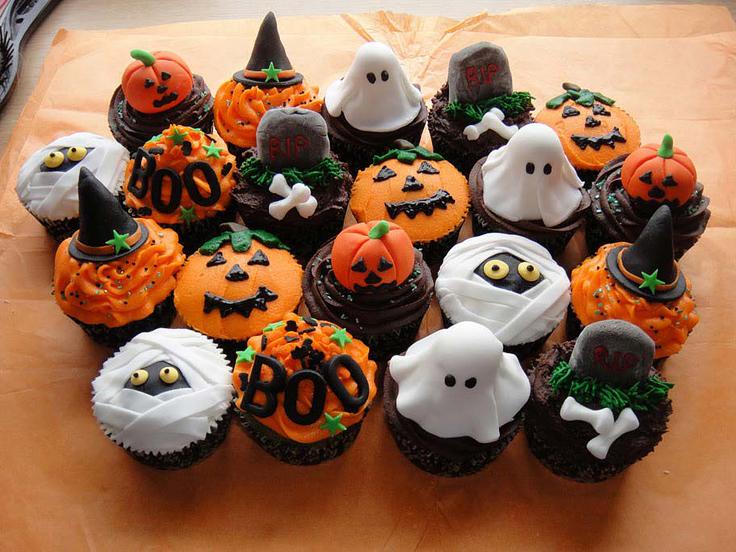 cupcake Halloween zucca fantasma ragno mummia cappello strega