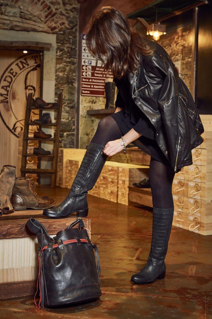 Maledetti Toscani store Torino Montepulciano pelle giacca stivali borsa Elisa Raimondo