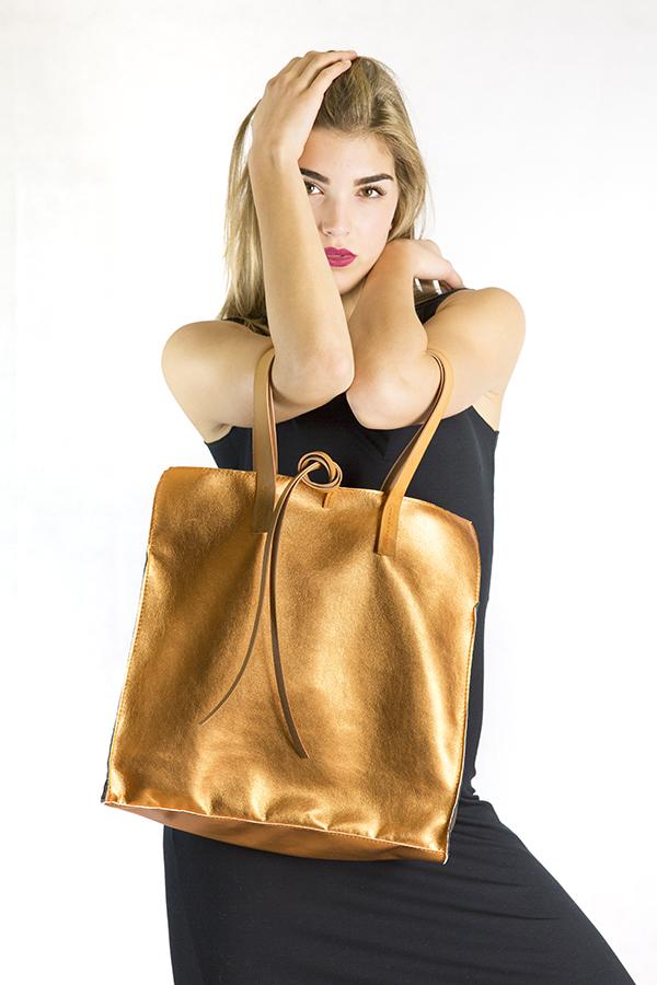 Borse 10100 collezione Torino Fashion Bloggers bag oro