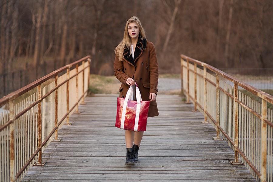 Borse 10100 collezione Torino Fashion Bloggers shopping bag rosso
