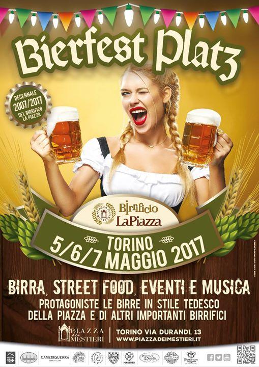 Bierfest Platz Piazza dei Mestieri birra festa Torino