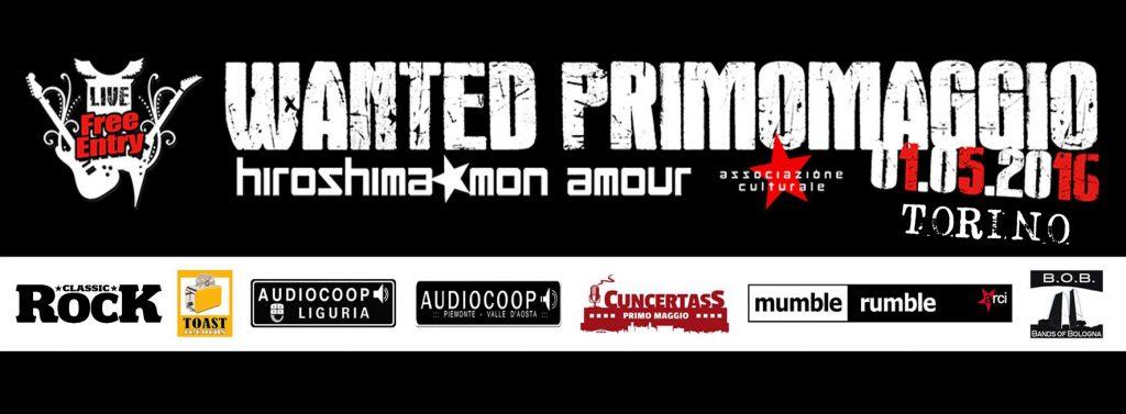 Wanted Primo Maggio concerti band musica evento Torino