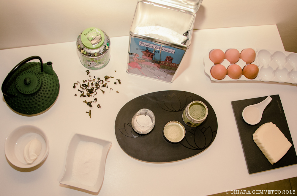 Ingredienti Muffin al tè verde matcha