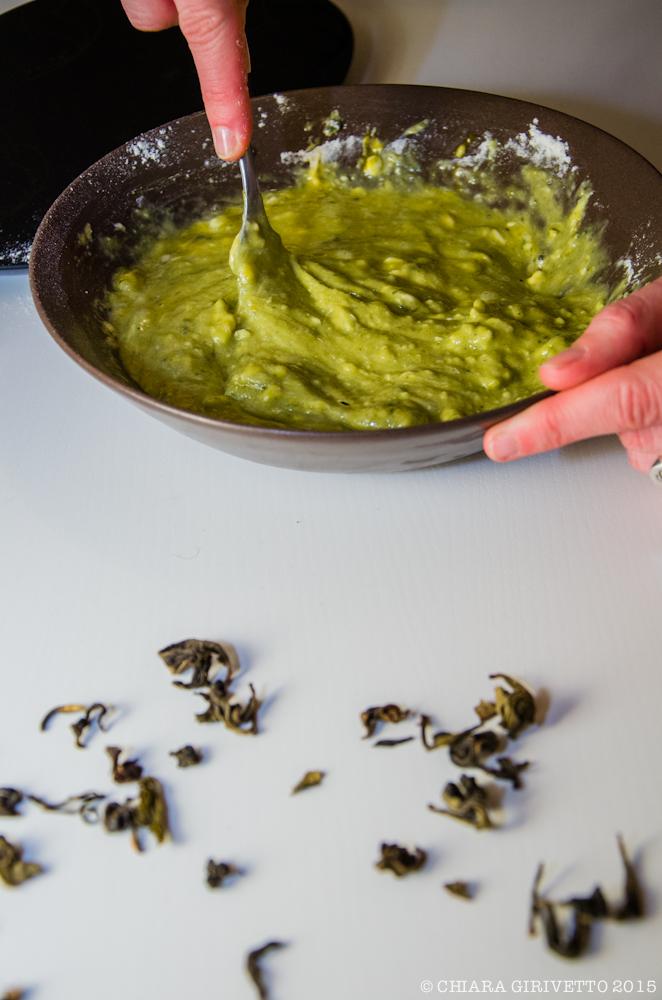Muffin tè verde matcha preparazione