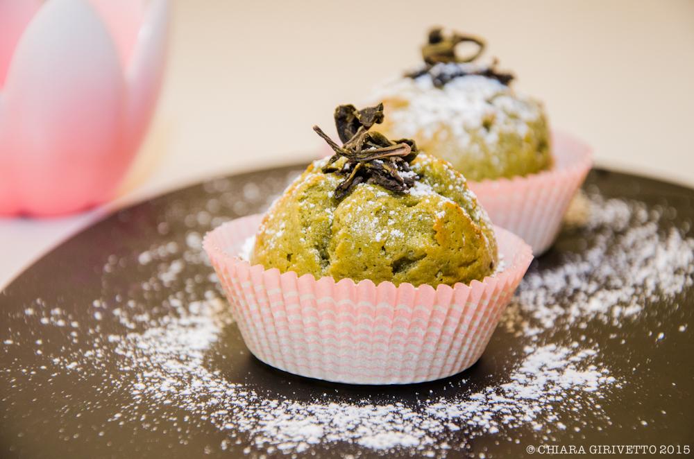 Muffin al tè verde matcha presentazione