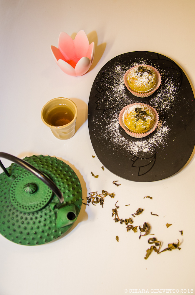 Muffin al tè verde presentazione