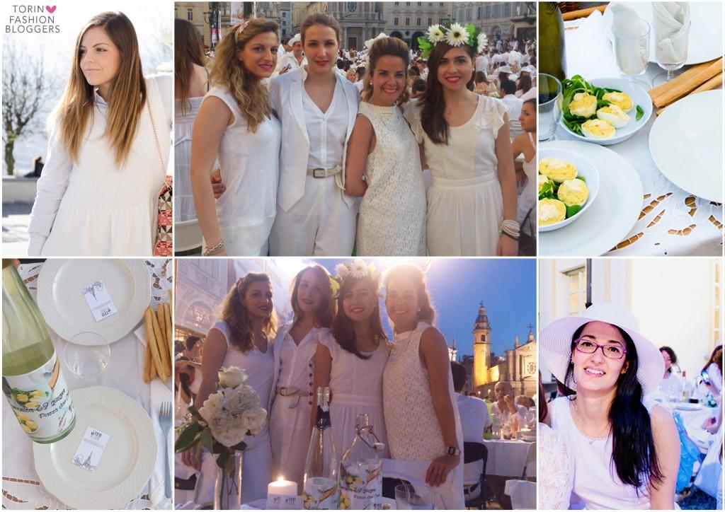 Torino Fashion Bloggers cena in bianco look elisa raimondo eleonora gavino gemma contini emily grosso chiara girivetto