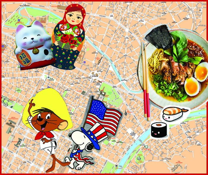ristoranti dal mondo piantina torino, ristoranti torino