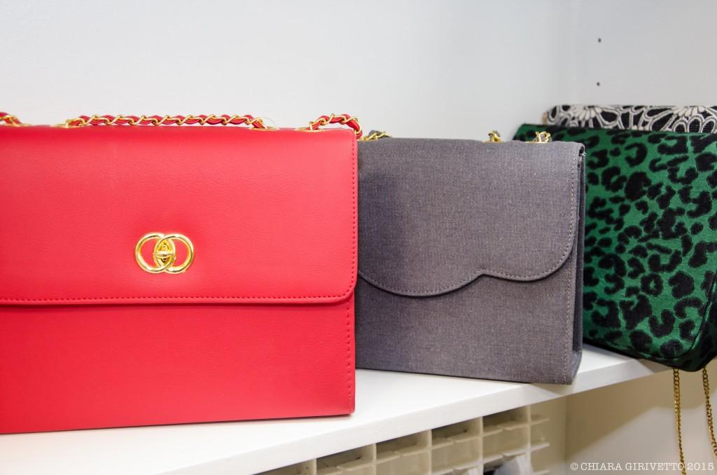 borse artigianali pochette rosso