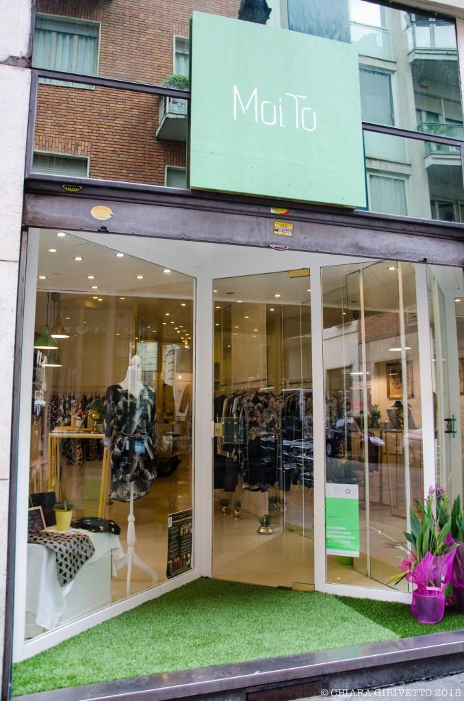 vetrina Moi.to abbigliamento shopping Torino