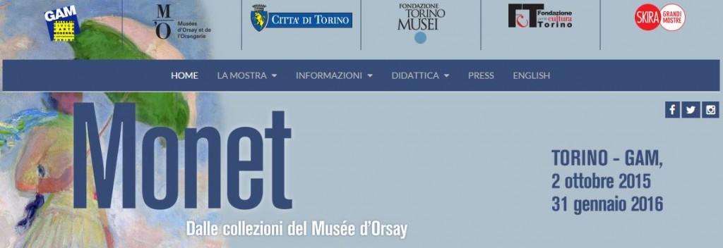 Monet Gam mostra Torino