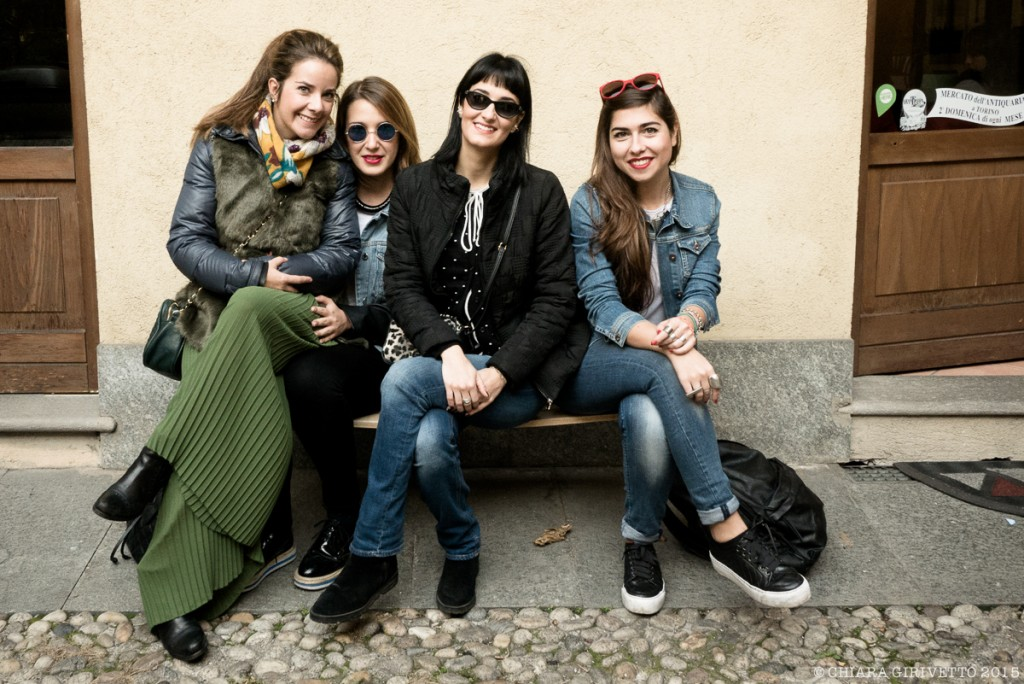 Le Torino Fashion Bloggers su una panchina al Balon