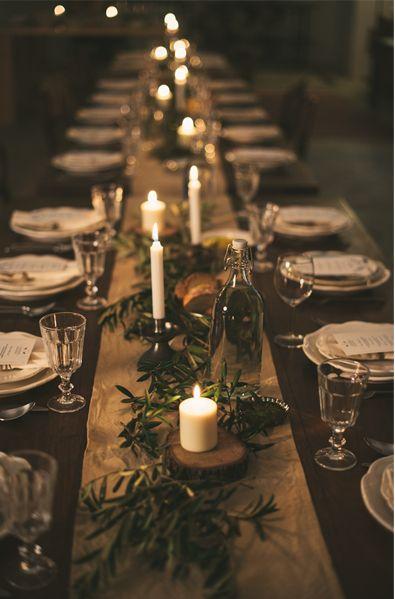 tavola, candele, natale
