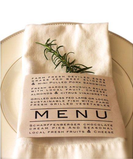 menu, tovagliolo, rosmarino