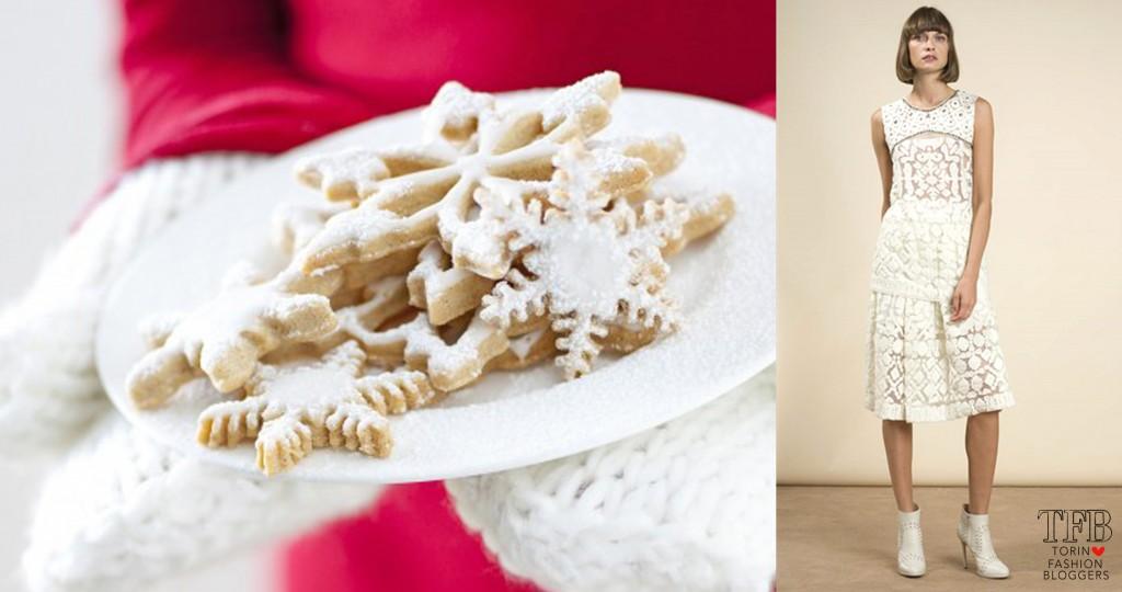 biscotti di zucchero a velo a forma di fiocco di neve abito pinko ricette biscotti natalizi
