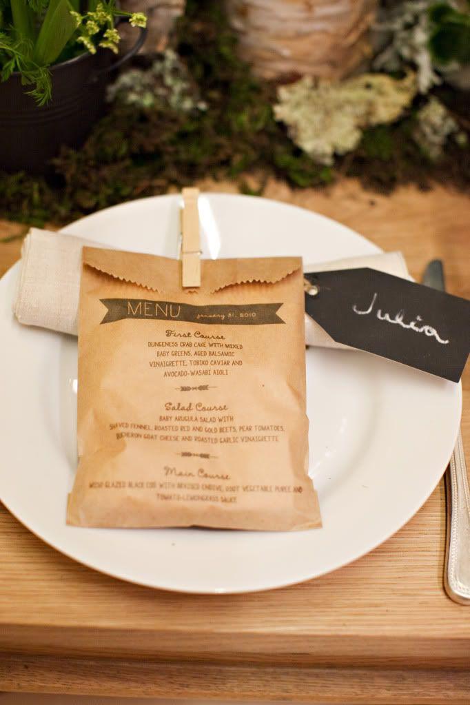 menu, sacchetto, piatto