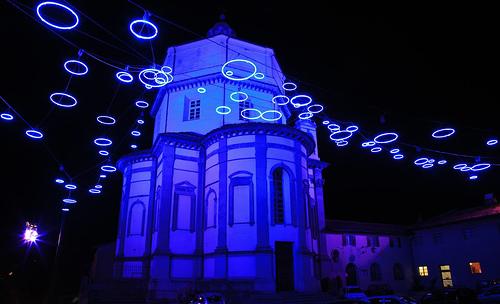 luci d'artista monte dei cappuccini blu