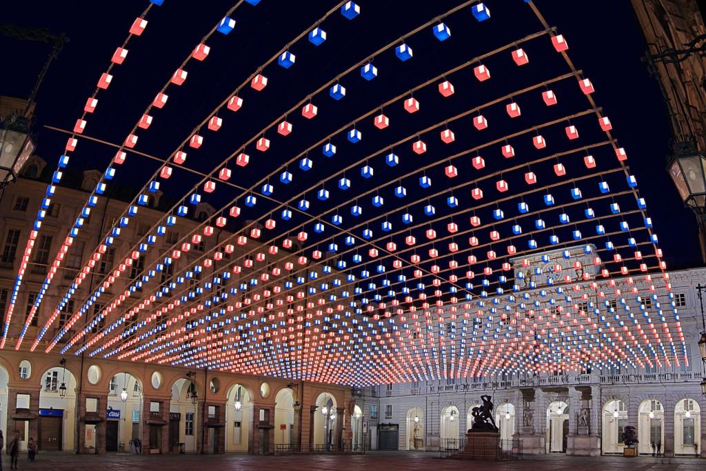 luci d'artista torino piazza del comune