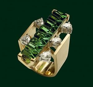 Enrico Cirio anello cactus gemme preziose oro