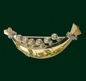 Enrico Cirio caravella Colombo spilla gioiello diamanti