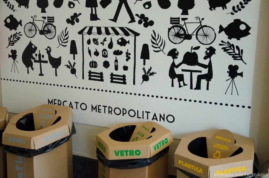 Mercato Metropolitano Torino raccolta differenziata sostenibilità