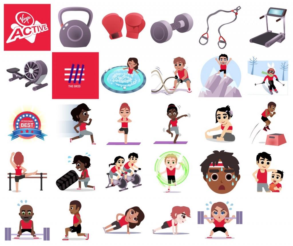 Virgin Active emojivation pack PIC