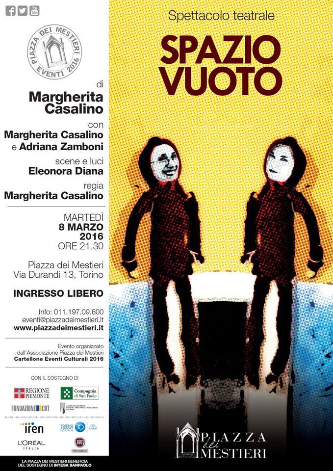 Spazio Vuoto spettacolo teatrale festa delle donne Piazza dei Mestieri Torino