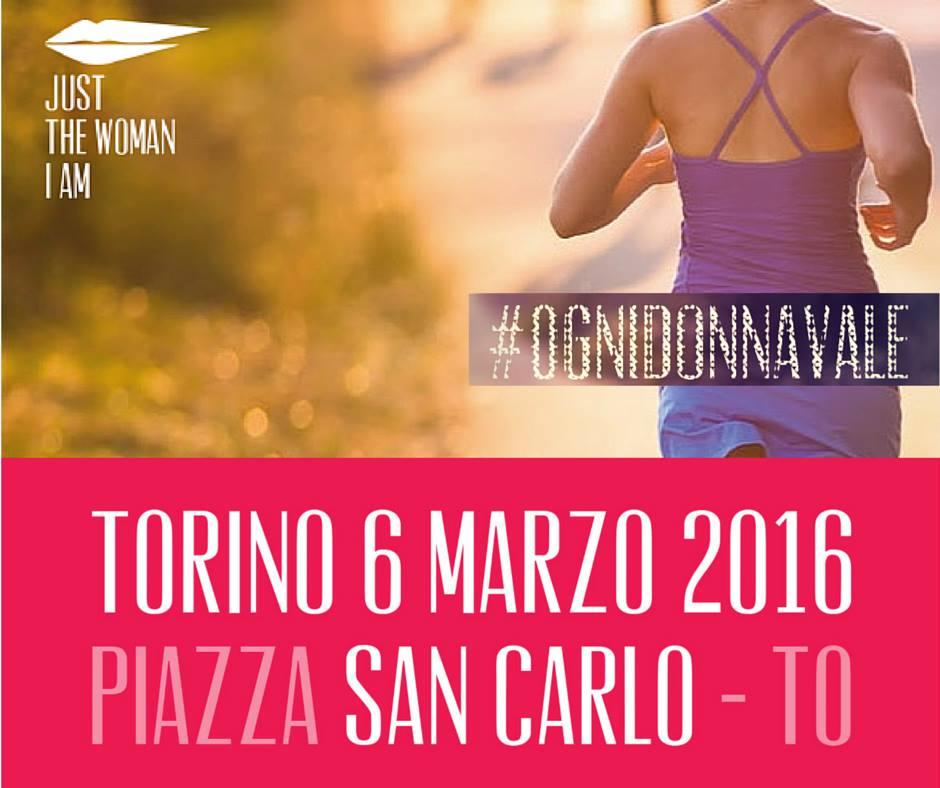 Torino Donna Just The Woman I Am corsa cancro Torino evento