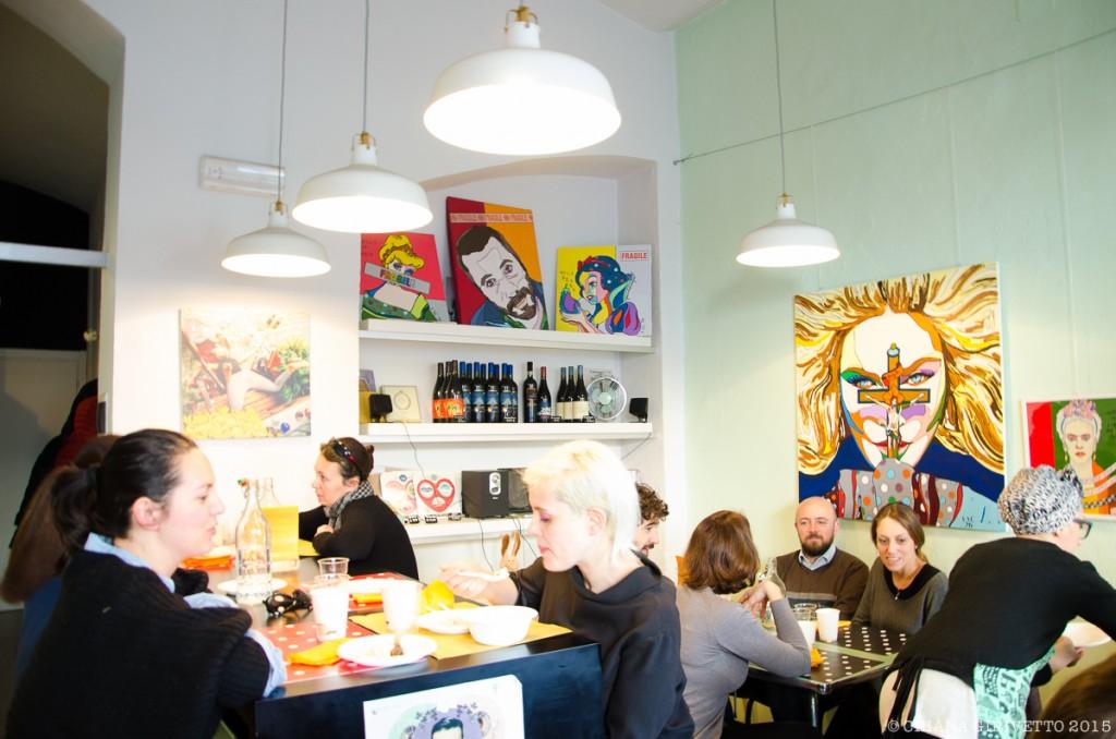 Cenerentola Prêt à Manger quadri colore personaggi cartoni brunch