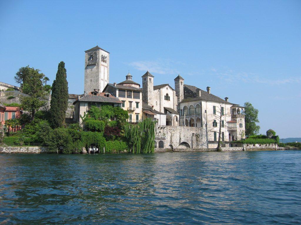 Isola di San Giulio Lago d'Orta vista