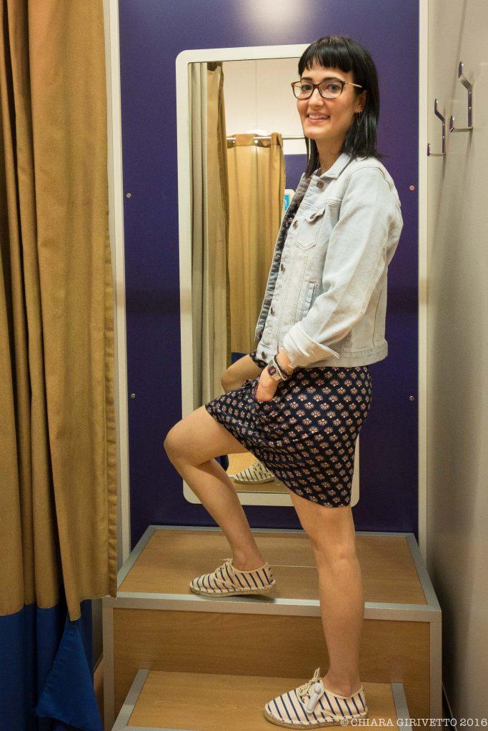Chiara Girivetto Kiabi total look giacchino di jeans