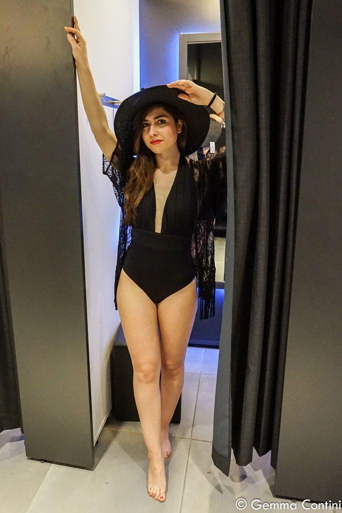 Gemma Contini Kiabi total look costume intero nero