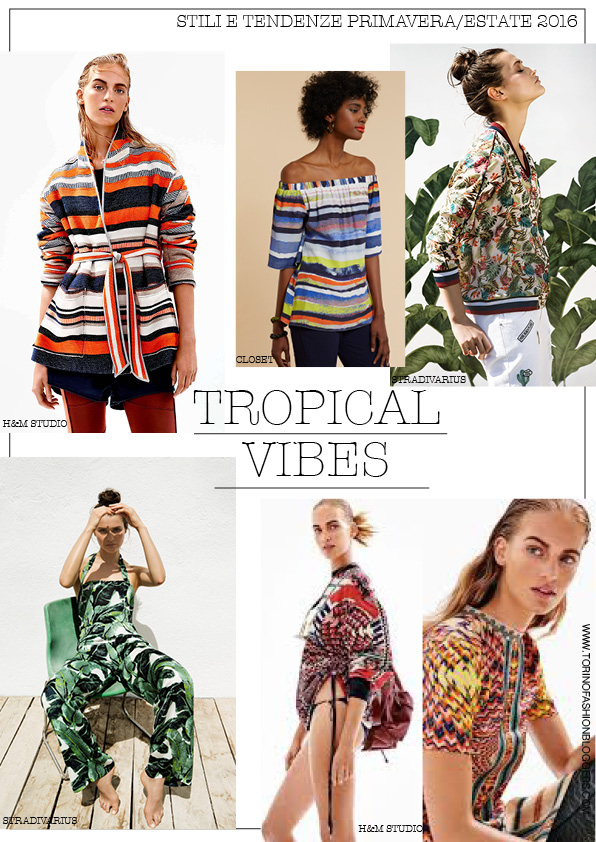 tropical vibes moodboard ss 2016