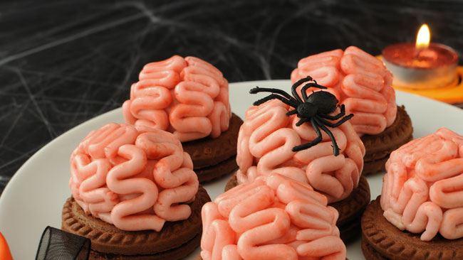 dolcetti cervello cacao dolci cioccolato Halloween ricetta