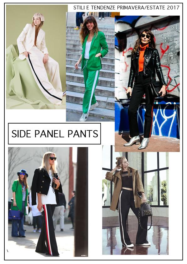 side panel pants pantaloni con la riga laterale