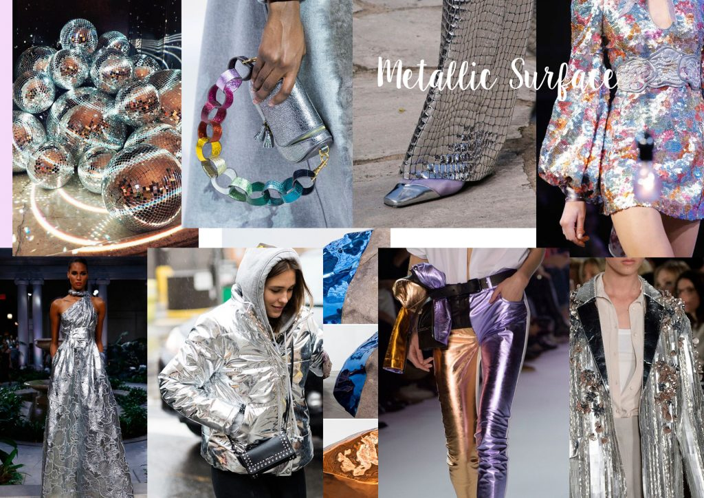 shine metallic surface moodboards