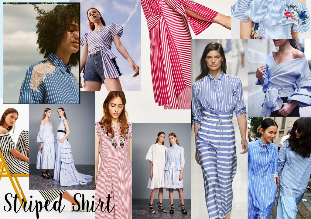 shirt stripes fabric moodboard