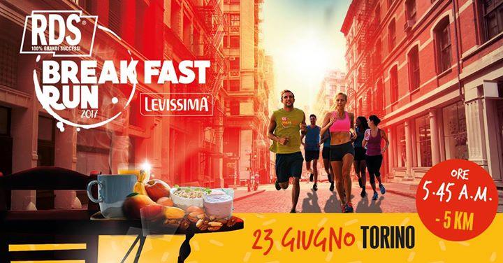 RDS Breakfast Run Torino corsa centro storico alba colazione evento
