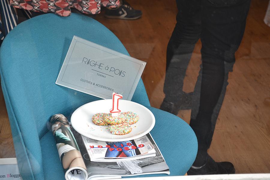 Torino Fashion Bloggers Righe à Pois festa negozio party 1 anno